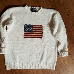 Ralph Lauren  Vintage American Flag Sweater